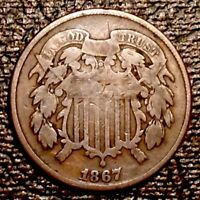 1867 US TWO CENTS