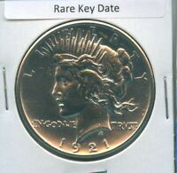 1921 P PEACE DOLLAR $1 US MINT COIN  KEY DATE SILVER COIN BU MS  DETAILS