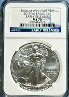 2013 W SILVER EAGLE NGC MS 70