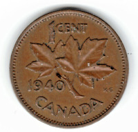 1940 CANADA CENT  YOU GRADE IT  CANADA NO LONGER MINTS ONE CENT COINS. STK E36