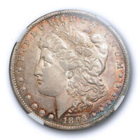 1893 O $1 MORGAN DOLLAR NGC AU 55 ABOUT UNCIRCULATED TO MS TONED TOUGH