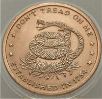 DONT TREAD ON ME  THE PRICE OF LIBERTY 1 OZ .999 COPPER ROUND NEW CAPSULE  B 2