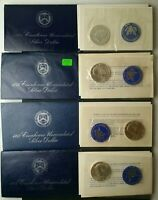 1971 1972 1973 AND 1974 $1 EISENHOWER UNCIRCULATED SILVER DO