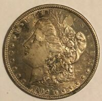 1902 MORGAN SILVER DOLLAR CHOICE ALMOST UNCIRCULATED TONED READ C4637