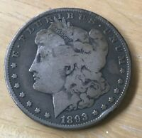 1893-O MORGAN SILVER DOLLAR,  ONLY 300,000 MINTED