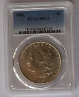 1886 P PCGS MINT STATE 63  VAM 6 HIGH 6   LDS OF 6B  CLASHED