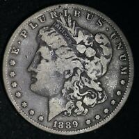 1889-CC MORGAN SILVER DOLLAR CHOICE VF E495 JFKA