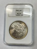 1885 MORGAN SILVER DOLLAR MINT STATE 64 NGC