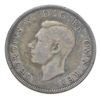 SILVER   WORLD COIN   1940 GREAT BRITAIN 1/2 CROWN   WORLD S