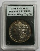 1878 S VAM 16  DIE SCRATCH WING, ENGR WING F, DOUBLED