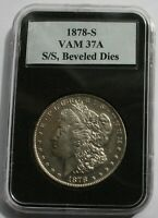 1878 S VAM 37A  DOUBLE UNUM, ENGRAVED WING FEATHERS, S/S LEFT, BEVELED DIES