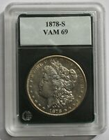 1878 S VAM 69  ENGR WING FEATHER, R IN TRUST BROKEN, SLIGHTLY DBLED UNITED S-TE