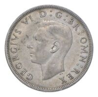 SILVER   WORLD COIN   1937 GREAT BRITAIN 1/2 CROWN   WORLD S