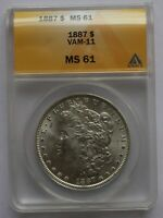 1887 P ANACS MINT STATE 61 VAM 11  DOUBLED 187, 7 IN DENTICLES