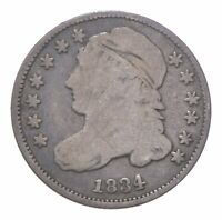 EARLY   1834   CAPPED BUST DIME   EAGLE REVERSE   TOUGH   US