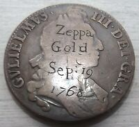 1695 GREAT BRITAIN CROWN COIN ENGRAVING ON OBVERSE