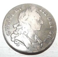 1696 GREAT BRITAIN CROWN COIN ENGRAVING ON REVERSE