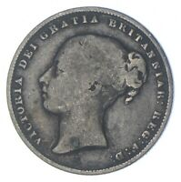 ROUGHLY SIZE OF QUARTER 1861 GREAT BRITAIN 1 SHILLING WORLD