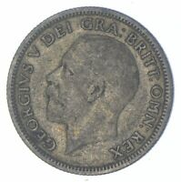 ROUGHLY SIZE OF QUARTER 1929 GREAT BRITAIN 1 SHILLING WORLD