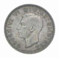 ROUGHLY SIZE OF A QUARTER 1939 GREAT BRITAIN 1 SHILLING WORL