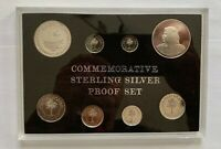 BAHRAIN PROOF COMMEMORATIVE STERLING SILVER COINS SET MONETARY AGENCY 1973 1983