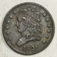 1828 CLASSIC HEAD HALF CENT 13 STARS LY FINE   DISCOUNTED EARLY TYPE