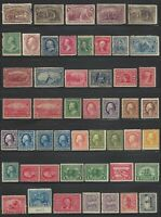 US STAMPS   NICE COLLECTION LOT OF 49 MINT OLDER US ISSUES