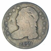 EARLY   1829   CAPPED BUST DIME   EAGLE REVERSE   TOUGH   US TYPE COIN  461