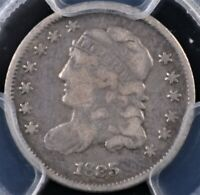 1835 CAPPED BUST HALF DIME LARGE DATE SMALL 5C PCGS F12  ORIGINAL EXAMPLE