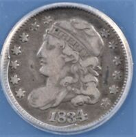 1834 CAPPED BUST HALF DIME ANACS VF 20 GREAT