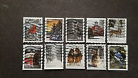 US SC 5531 40 WINTER SCENES SET OF 10 FROM 2020.  USED OFF P