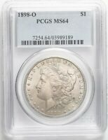 USA NEW ORLEANS MINT SILVER MORGAN DOLLAR 1898-O PCGS MINT STATE 64 1045