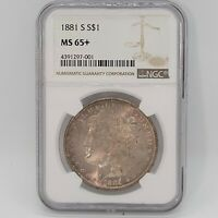 1881-S NGC MINT STATE 65 PLUS MORGAN US SILVER DOLLAR S$1 PQ GRADED CERTIFIED FREE SHIP