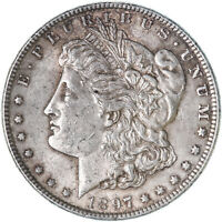 1897 MORGAN SILVER DOLLAR ABOUT UNCIRCULATED AU SEE PICS F245