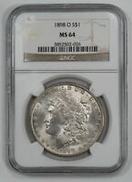 1898 O MORGAN SILVER DOLLAR $1 NGC CERTIFIED MINT STATE 64 MINT STATE UNC 026