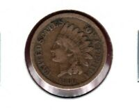 1860 ROUNDED BUST INDIAN HEAD CENT FULL LIBERTY VG C6000