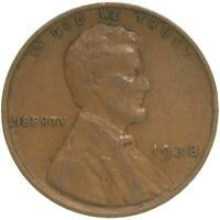 1938 LINCOLN WHEAT CENT EXTRA FINE PENNY EXTRA FINE