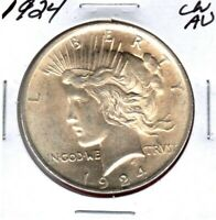 1924 PEACE SILVER DOLLAR GRADES CHOICE ALMOST UNCIRCULATED C6207