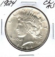 1924 PEACE SILVER DOLLAR GRADES CHOICE ALMOST UNCIRCULATED C6208