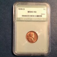1938 S LINCOLN CENT MINT RED UNCIRCULATED UNC