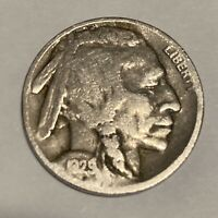 1929-D BUFFALO NICKEL DENVER MINT - EXACT COIN PICTURED - SHIPS FREE LT15