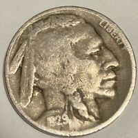 1929-D BUFFALO NICKEL DENVER MINT - EXACT COIN PICTURED - SHIPS FREE LT4