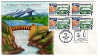 1150 WATER CONSERVATION  1960 FDC RALPH DYER HAND PAINTED