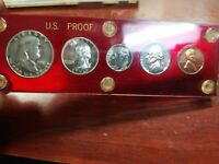 1951 PROOF SET   5   COIN PLUS CAPITOL HOLDER