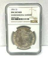 1904 MORGAN SILVER NGC UNCIRCULATED DETAILS STRONG MS BETTER DATE