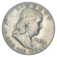 BETTER 1949 S US FRANKLIN 90  SILVER HALF DOLLAR COIN COLLEC