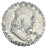 BETTER 1952 S US FRANKLIN 90  SILVER HALF DOLLAR COIN COLLEC