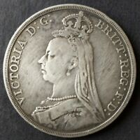 1890 GREAT BRITAIN SILVER CROWN