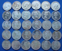 NICE ASSORTED DATES LOT OF  30  CANADA SILVER DOLLARS ALL 8