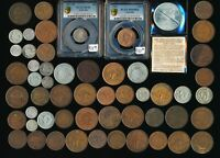 55 OLD AUSTRALIA COINS  PLENTY COLLECTIBLE  SOLID LOT >  MUS